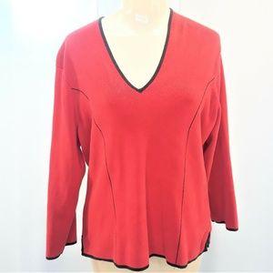 World Republic Sweater Red Silk Blend Womens XL